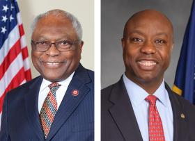 James Clyburn (left) Tim Scott (right)