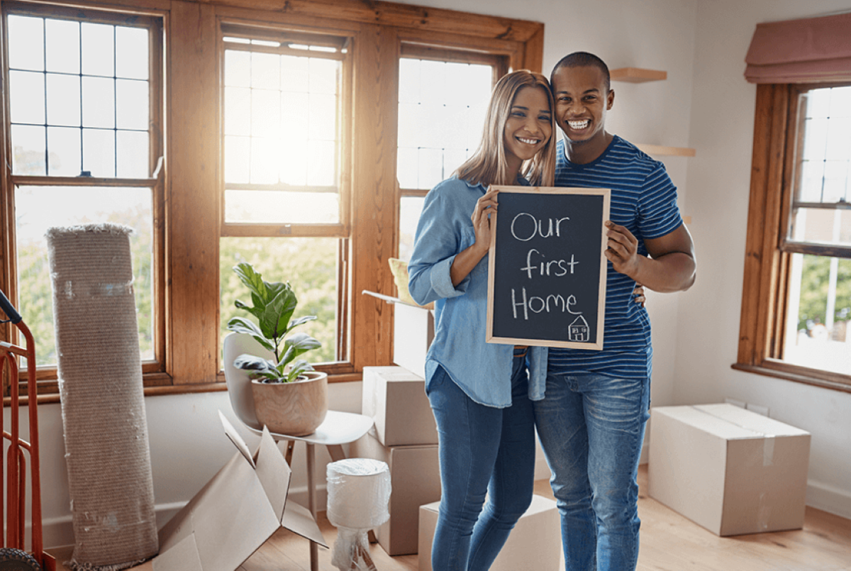 Couple Buy First Home picture