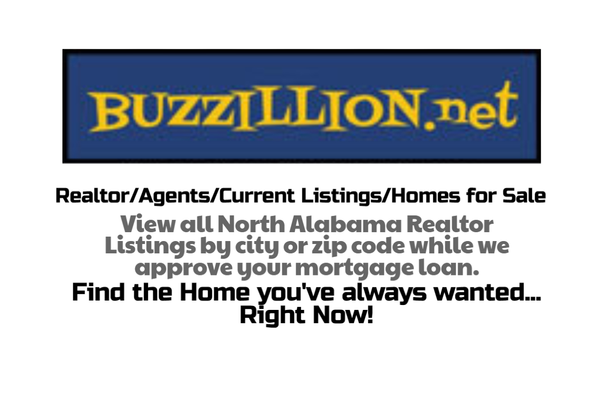 Buzzillion home search and mortgage loans in Alabama